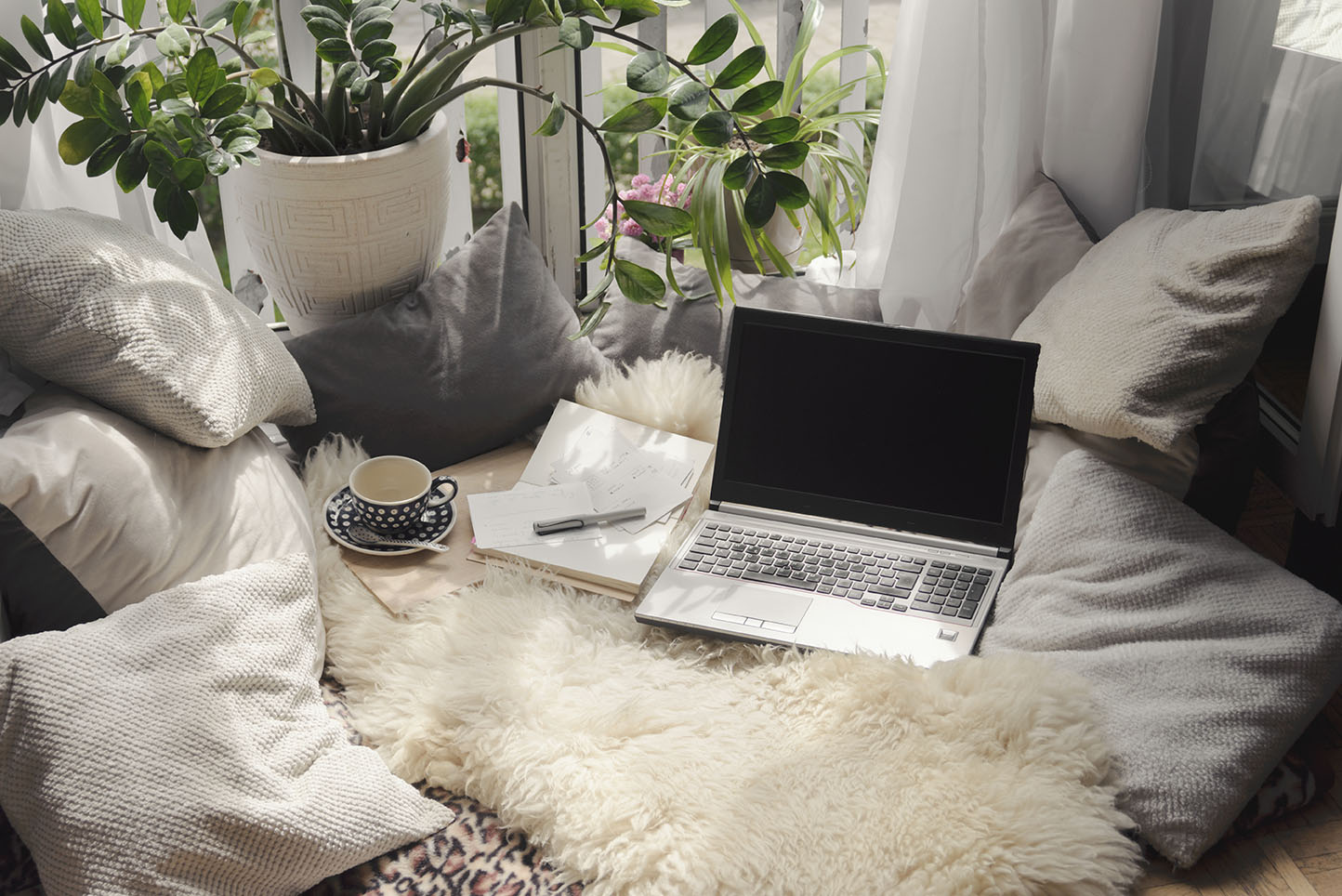 Cozy place at home for working remotely