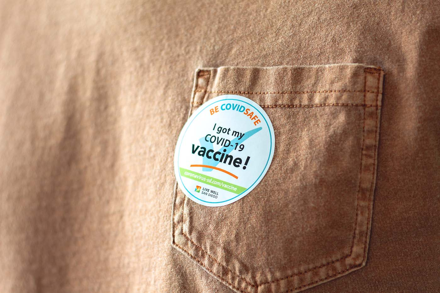 """Picture of an """"I got my Covid-19 vaccine"""" sticker"""