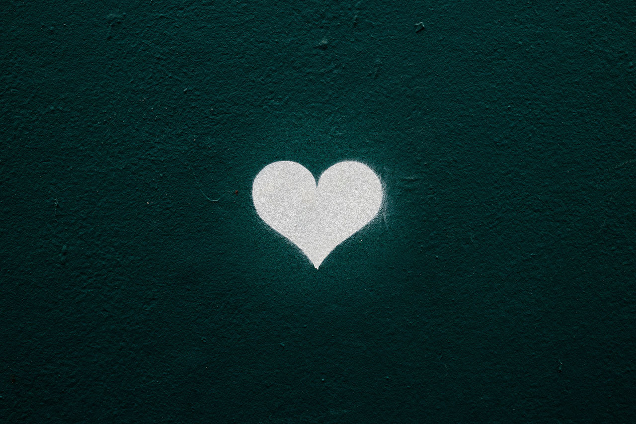 White heart illustration, ©Nicola Fioravanti / Unsplash