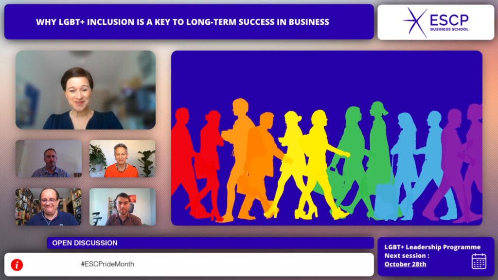 Screenshot of virtual round table LGBT+